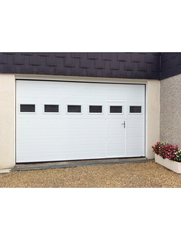 Porte Sectionnelle Sur Mesure Contemporaine LA TOULOUSAINE - Porte garage sectionnelle sur mesure